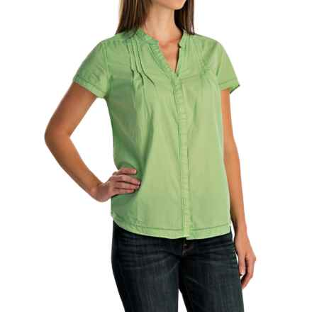 Woolrich Clare Woods Shirt - Short Sleeve (For Women) in Pistachio - Closeouts