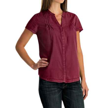 Woolrich Clare Woods Shirt - Short Sleeve (For Women) in Wildberry - Closeouts