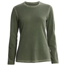 Woolrich Clarion Shirt - Cotton Crepe Knit, Long Sleeve (For Women) in Spruce - Closeouts