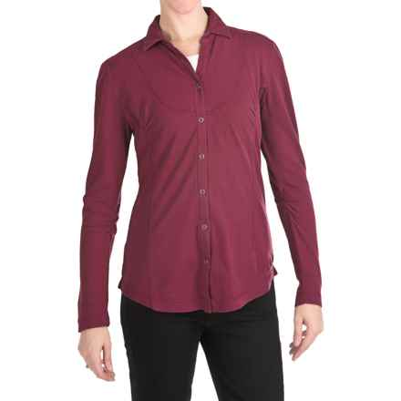 Woolrich Clarion Shirt - Crepe-Knit Cotton, Long Sleeve (For Women) in Deep Ruby - Closeouts