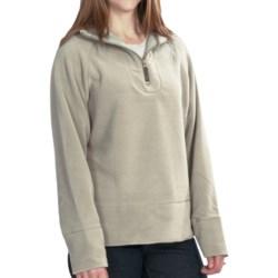 Woolrich Clarksville Fleece Pullover Jacket - Zip Neck (For Women) in Moccasin