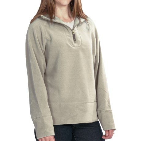 Woolrich Clarksville Pullover - Zip Neck, Trailhead Fleece (For Women) in Black Cherry