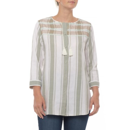 d377a53753e Woolrich Cleo Falls Tunic Shirt - Organic Cotton, 3/4 Sleeve (For Women