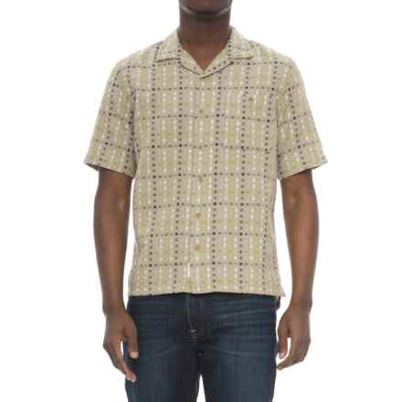Woolrich Coastal Peak Eco Rich Shirt - Organic Cotton, Short Sleeve (For Men) in Khaki - Overstock