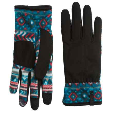 Woolrich Colwin Fleece Gloves - Touchscreen Compatible, Chenille Lined (For Women) in Seaport - Closeouts