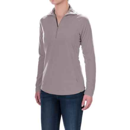 Woolrich Colwin Fleece Pullover Shirt - Zip Neck, Long Sleeve (For Women) in Dusty Violet - Closeouts