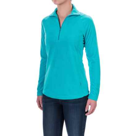 Woolrich Colwin Fleece Pullover Shirt - Zip Neck, Long Sleeve (For Women) in Peacock Blue - Closeouts