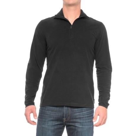 Woolrich Colwin Fleece Shirt - Zip Neck, Long Sleeve (For Men) in Black