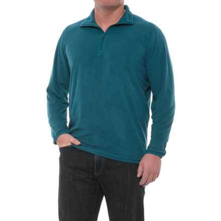 Woolrich Colwin Fleece Shirt - Zip Neck, Long Sleeve (For Men) in Nordic Blue - Closeouts