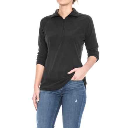 Woolrich Colwin Fleece Shirt - Zip Neck, Long Sleeve (For Women) in Black - Closeouts