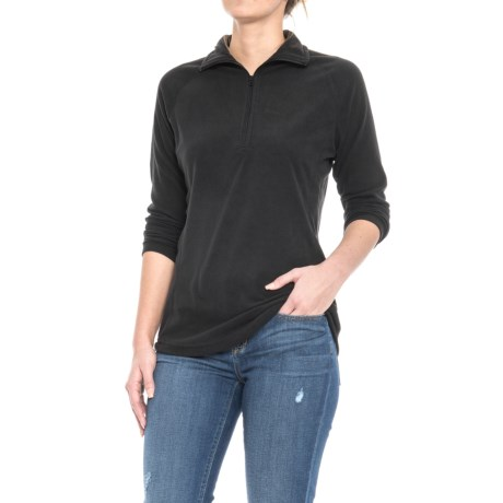 Woolrich Colwin Fleece Shirt - Zip Neck, Long Sleeve (For Women) in Black