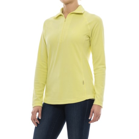 Woolrich Colwin Fleece Shirt - Zip Neck, Long Sleeve (For Women) in Charlock