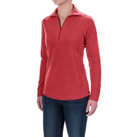 Woolrich Colwin Fleece Shirt - Zip Neck, Long Sleeve (For Women) in Dark Guava - Closeouts