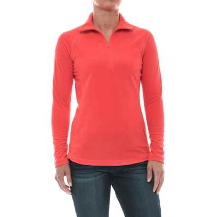 Woolrich Colwin Fleece Shirt - Zip Neck, Long Sleeve (For Women) in Fiery Coral - Closeouts
