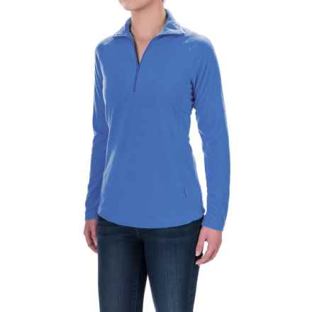 Woolrich Colwin Fleece Shirt - Zip Neck, Long Sleeve (For Women) in Lapis - Closeouts