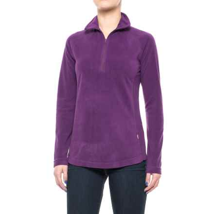 Woolrich Colwin Fleece Shirt - Zip Neck, Long Sleeve (For Women) in Wisteria - Closeouts
