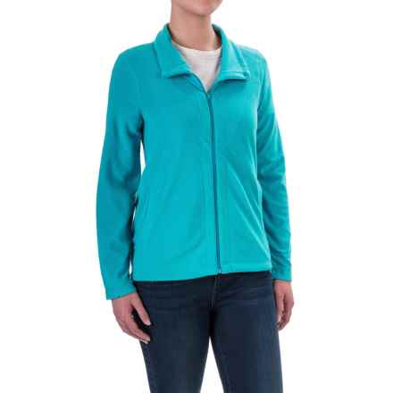 Woolrich Colwin Novelty Fleece Jacket - Zip Front (For Women) in Peacock Blue - Closeouts