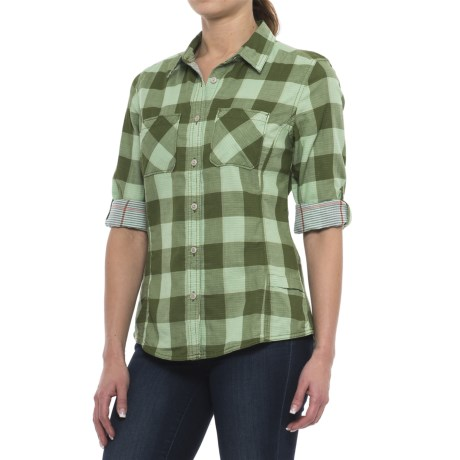 Woolrich Conundrum Eco Rich Shirt - Organic Cotton, Long Sleeve (For Women) in Moss