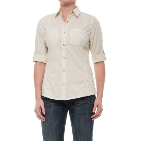 Woolrich Conundrum Peak Convertible Shirt - Long Sleeve (For Women) in Safari