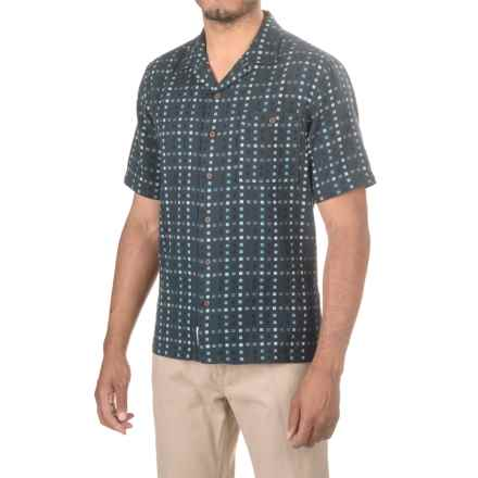 Woolrich Costal Peak Shirt - Organic Cotton, Short Sleeve (For Men) in Deep Indigo - Closeouts