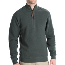 Woolrich Cotton Bromley Sweater - Zip Neck (For Men) in Dark Loden Heather - Closeouts