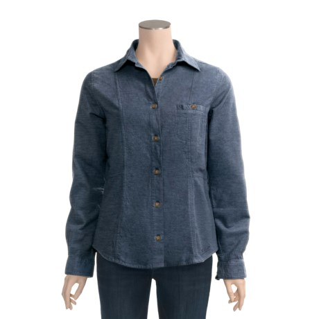 Woolrich Cotton Chamois Shirt - Button Front, Long Sleeve ...