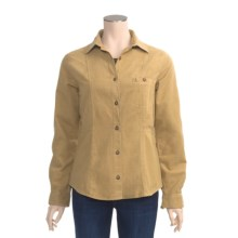 Woolrich Cotton Chamois Shirt - Button Front, Long Sleeve (For Women) in Dark Caramel Heather - Closeouts