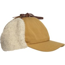Woolrich Cotton Oilcloth Cap - Sherpa-Lined Ear Flaps (For Men) in Buck - Closeouts