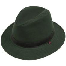Woolrich Cotton Oilcloth Safari Hat - Hidden Ear Flaps (For Men) in Moss - Closeouts