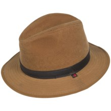 Woolrich Cotton Oilcloth Safari Hat - Hidden Ear Flaps (For Men) in Saddle - Closeouts