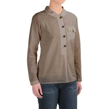 Woolrich Cotton Poplin Popover Shirt - Long Sleeve (For Women) in Canyon - Closeouts