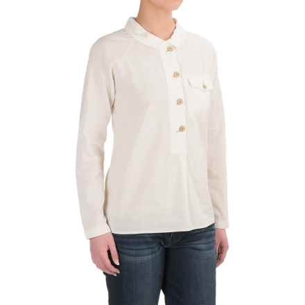 Woolrich Cotton Poplin Popover Shirt - Long Sleeve (For Women) in Chalk - Closeouts