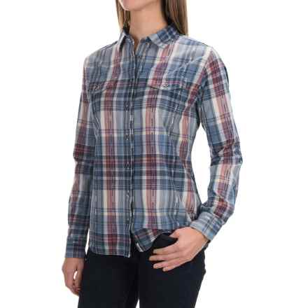 Woolrich Cottonwood Dobby Shirt - Long Sleeve (For Women) in Deep Blue Sea - Closeouts
