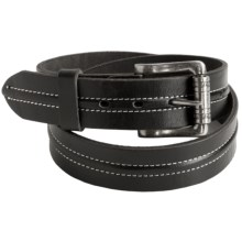 Woolrich Crawford Belt - Leather (For Men) in Black - Closeouts