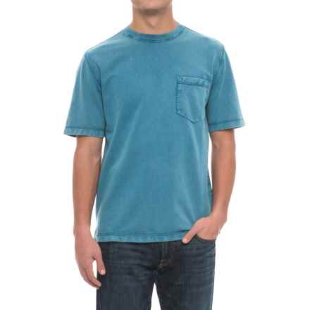Woolrich Crescent Lake Terry T-Shirt - Short Sleeve (For Men) in Blue Jay - Overstock