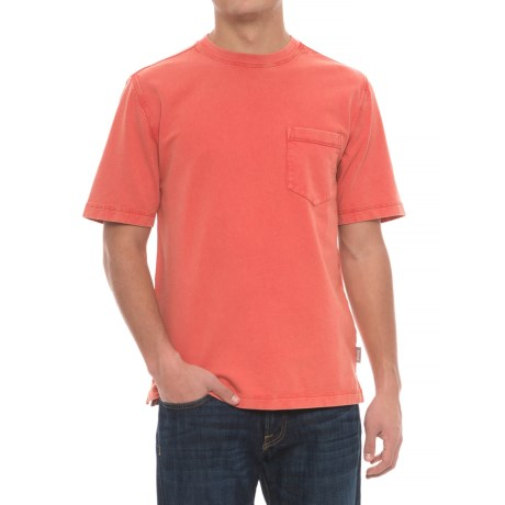 Woolrich Crescent Lake Terry T-Shirt - Short Sleeve (For Men) in Fiesta Red