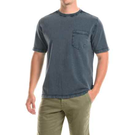 Woolrich Crescent Lake Terry T-Shirt - Short Sleeve (For Men) in Shadow - Closeouts
