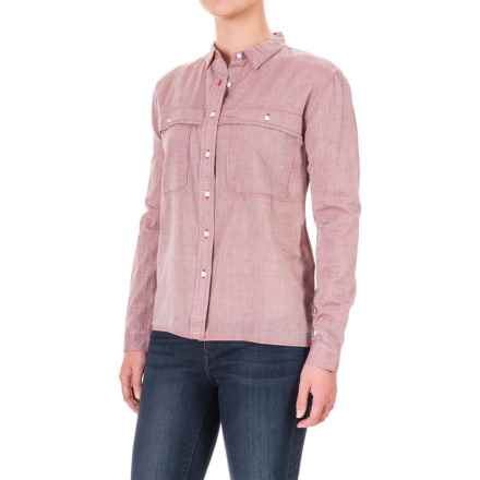 Woolrich Cropped Rebel Ryan Shirt - Long Sleeve (For Women) in Kayak Red - Closeouts