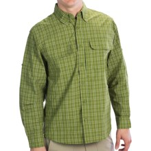 Woolrich Cross Country Pattern Tech Shirt - UPF 40+, Roll-Up Long Sleeve (For Men) in Kelp - Closeouts