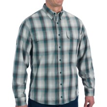 Woolrich Cross Country Pattern Tech Shirt - UPF 40+, Roll-Up Long Sleeve (For Men) in Ocean Storm - Closeouts