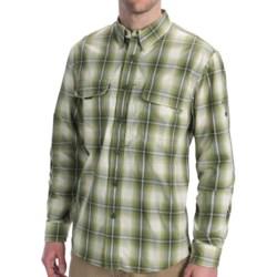 Woolrich Cross Country Pattern Tech Shirt - UPF 40+, Roll-Up Long Sleeve (For Men) in Ocean Storm