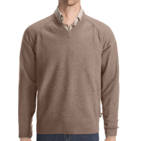 Woolrich Cross Country V-Neck Sweater - Merino Wool (For Men) in Dark Shale