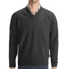 Woolrich Cross Country V-Neck Sweater - Merino Wool (For Men) in Onyx Heather - Closeouts