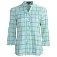 Woolrich Crystal Mountain Shirt - UPF 15, 3/4 Sleeve, Stretch Cotton Seersucker (For Women) in Breeze - Closeouts