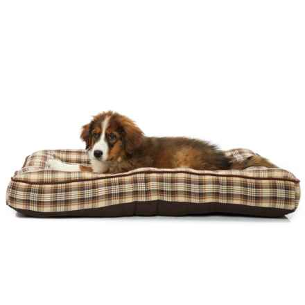 "Woolrich Dakota Plaid Mattress Dog Bed - 36x27"" in Brown/Beige - Closeouts"