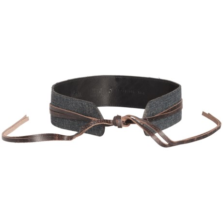 Woolrich Daravan Wool and Leather Wrap Belt (For Women) in Brown/Black