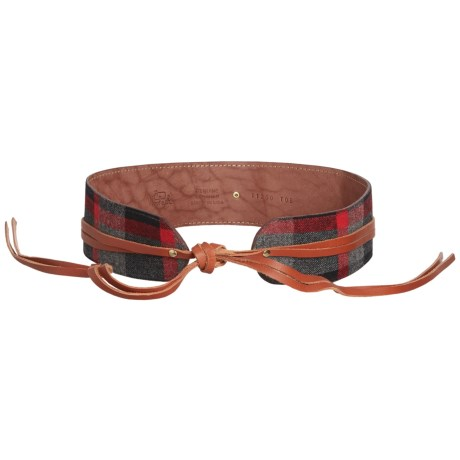 Woolrich Daravan Wool and Leather Wrap Belt (For Women)