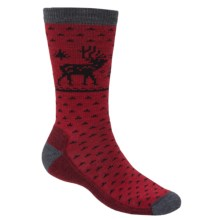 Woolrich Deer Socks - Merino Wool, Crew (For Men) in Charcoal - Closeouts