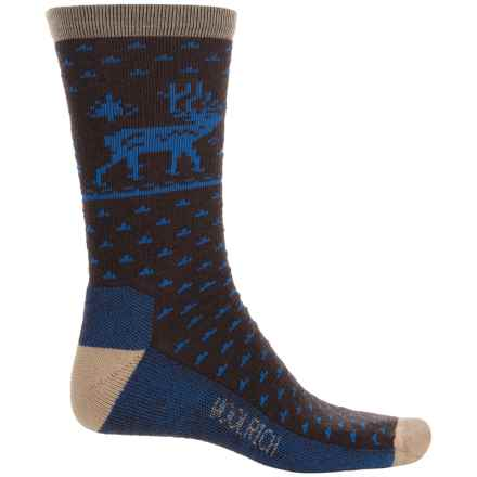 Woolrich Deer Socks - Merino Wool, Crew (For Men) in Lead Grey - Closeouts