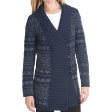Woolrich Denton Hill Sweater Coat - Lambswool, Shawl Collar (For Women) in Deep Indigo - Closeouts